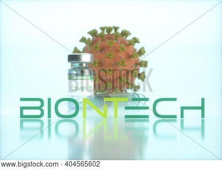 Biontech Vaccine, Conceptual Image For The Discovery Of A Vaccine For The Covid-19, Coronavirus, 201