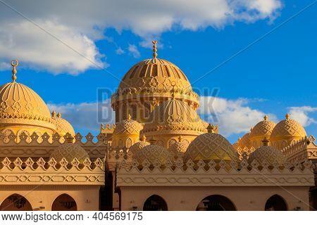 Facade Of El Mina Masjid Mosque In Hurghada, Egypt