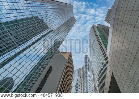 Upward View Photo Of Financial Office Building In Makati City, Philippines