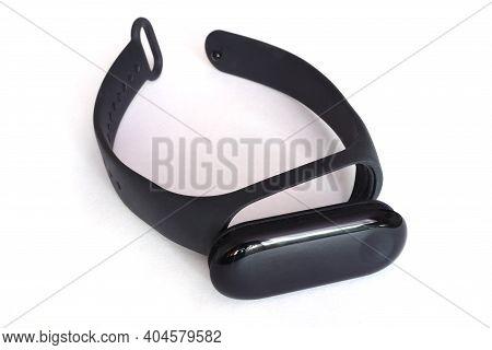 Fitness Bracelet. Isolate Fitness Bracelet. Gadget. Playing Sports