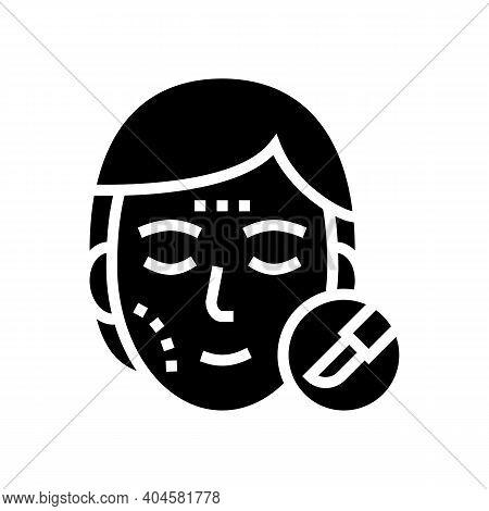 Plastic Surgery Glyph Icon Vector. Plastic Surgery Sign. Isolated Contour Symbol Black Illustration