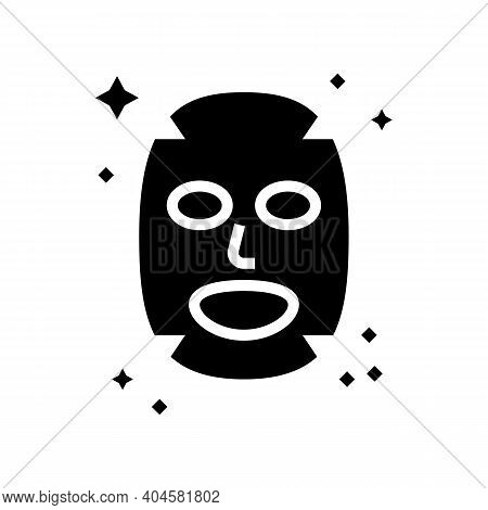 Facial Mask Glyph Icon Vector. Facial Mask Sign. Isolated Contour Symbol Black Illustration
