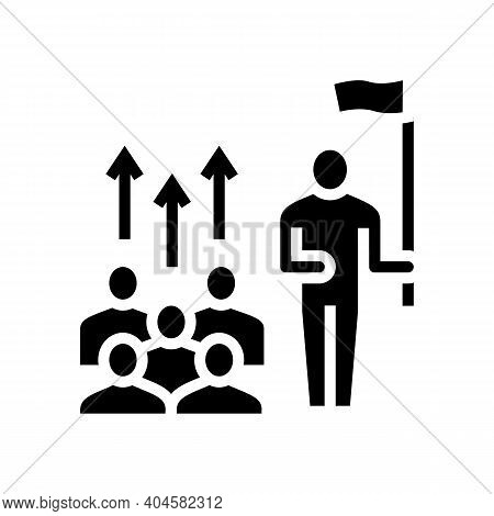 Leadership Team Glyph Icon Vector. Leadership Team Sign. Isolated Contour Symbol Black Illustration
