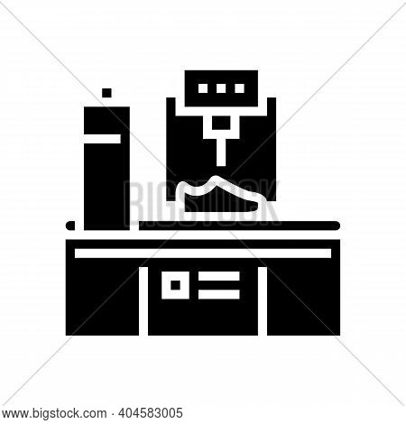 Shoes Making Equipment Glyph Icon Vector. Shoes Making Equipment Sign. Isolated Contour Symbol Black