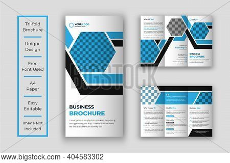 Creative Business Trifold Brochure Template Design, Tri-fold Brochure