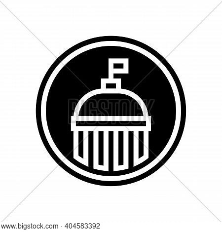 Government Service Sign Glyph Icon Vector. Government Service Sign Sign. Isolated Contour Symbol Bla