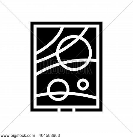 Picture Museum Exhibit Glyph Icon Vector. Picture Museum Exhibit Sign. Isolated Contour Symbol Black