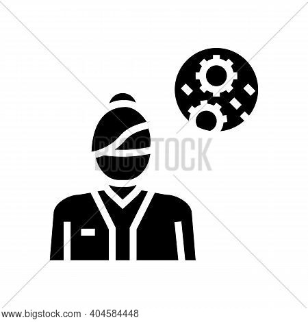 Infectious Disease Medical Specialist Glyph Icon Vector. Infectious Disease Medical Specialist Sign.