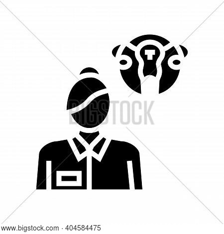 Gynecology Medical Specialist Glyph Icon Vector. Gynecology Medical Specialist Sign. Isolated Contou