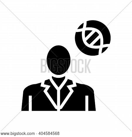 Oncology Medical Specialist Glyph Icon Vector. Oncology Medical Specialist Sign. Isolated Contour Sy