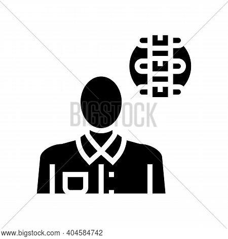 Rheumatology Medical Specialist Glyph Icon Vector. Rheumatology Medical Specialist Sign. Isolated Co