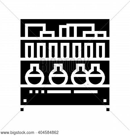 Pharmaceutical Manufacturing Ingredients Glyph Icon Vector. Pharmaceutical Manufacturing Ingredients