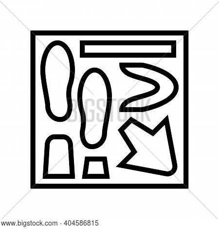 Shoe Making Model Line Icon Vector. Shoe Making Model Sign. Isolated Contour Symbol Black Illustrati