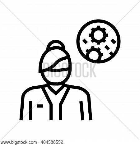 Infectious Disease Medical Specialist Line Icon Vector. Infectious Disease Medical Specialist Sign.
