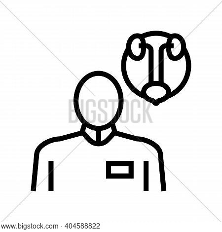 Urology Medical Specialist Line Icon Vector. Urology Medical Specialist Sign. Isolated Contour Symbo