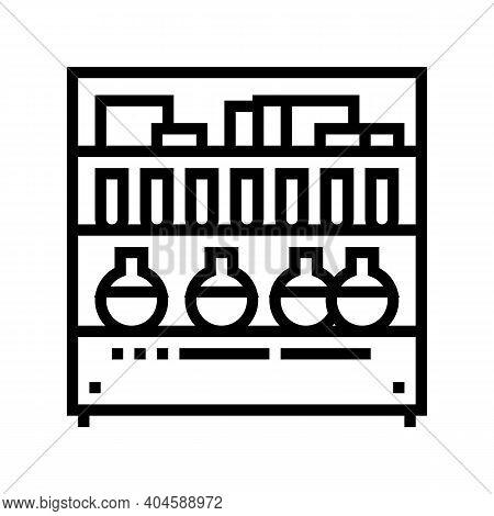 Pharmaceutical Manufacturing Ingredients Line Icon Vector. Pharmaceutical Manufacturing Ingredients
