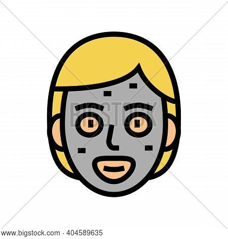 Facial Cream Mask Color Icon Vector. Facial Cream Mask Sign. Isolated Symbol Illustration