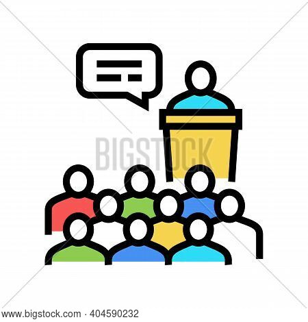 Business Conference Color Icon Vector. Business Conference Sign. Isolated Symbol Illustration