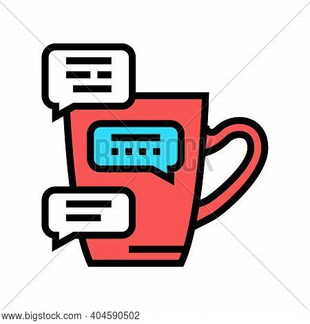 Coffee Break Communication Color Icon Vector. Coffee Break Communication Sign. Isolated Symbol Illus
