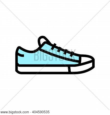 Sneakers Shoe Color Icon Vector. Sneakers Shoe Sign. Isolated Symbol Illustration