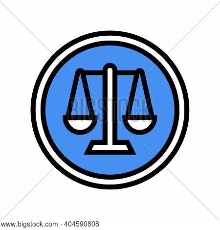 Court Sign Color Icon Vector. Court Sign Sign. Isolated Symbol Illustration
