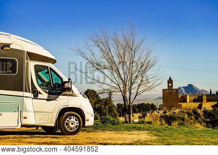 Caravan In Antequera City, Spain.
