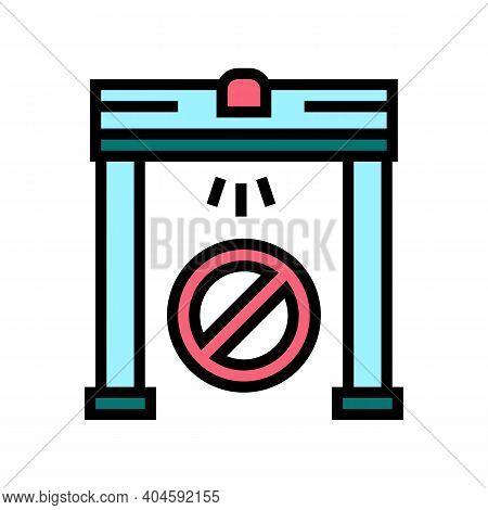 Metal Detector Frame Color Icon Vector. Metal Detector Frame Sign. Isolated Symbol Illustration