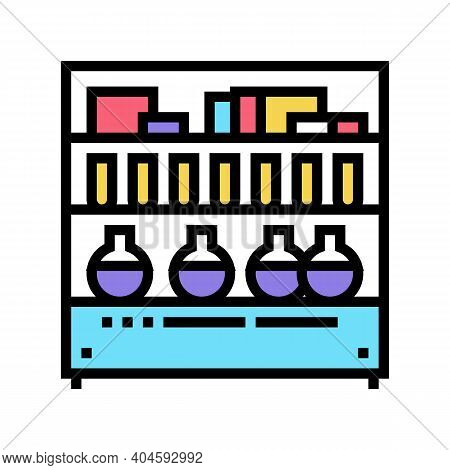 Pharmaceutical Manufacturing Ingredients Color Icon Vector. Pharmaceutical Manufacturing Ingredients