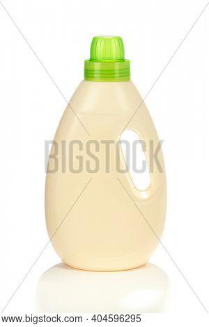 Plastic laundry bottle isolated on white background