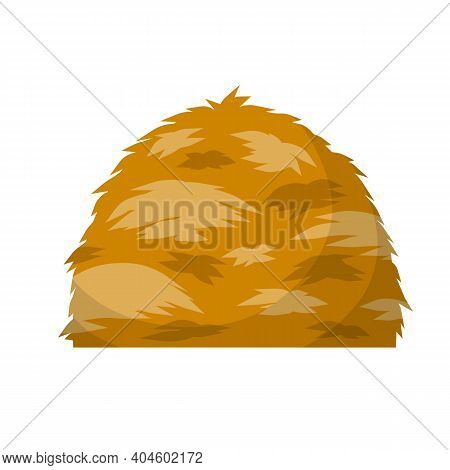 Sheaf Of Wheat Ears. Rural Crop. Autumn Rustic Element. Cartoon Flat Illustration. Bunch Of Harvest