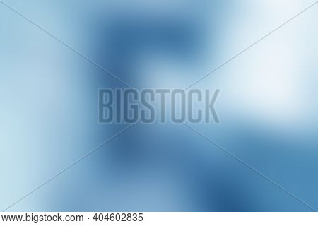 Light Blue Gradient Abstract Blur Background, Empty Defocused Corridor, Hall