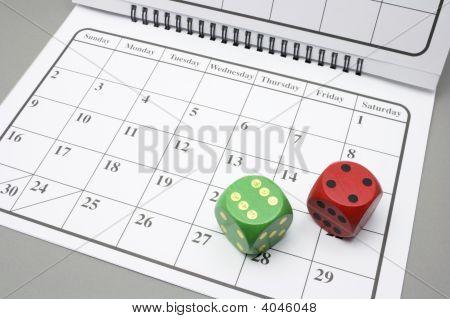 Dice On Calendar