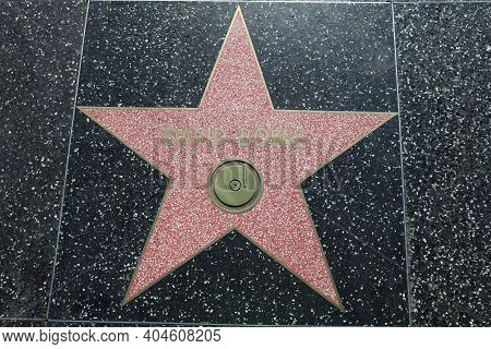 Los Angeles, Usa - July 10, 2017: David Bowie Star On Hollywood Walk Of Fame It Is Located On Hollyw