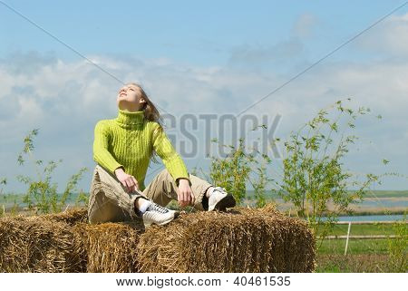 The Girl On Hay