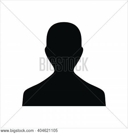 Male Icon. People Icon Isolated On White Background. Company Person Icon. Simple Male Sign Icon. Fla