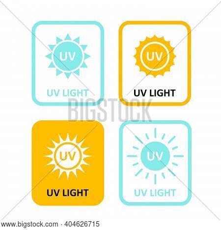 Uv Light Labels, Sterilization Quartz Light Bulb Information Sign, Uv-c Tag Icon, Quartz Disinfectio