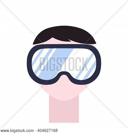 Safety Glasses Goggles. 2d Flat Isolated Vector