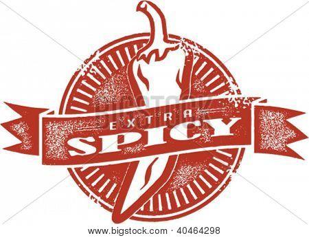 Extra Spicy Food Menu Stamp