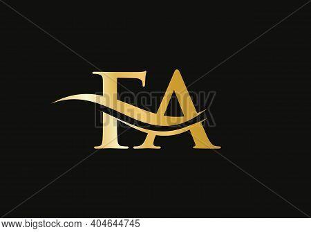Initial Monogram Letter Fa Logo Design Vector. Fa Letter Logo Design With Modern Trendy