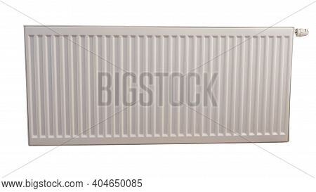 Heating Radiator Isolated On White Background, Water Radiator For Home.