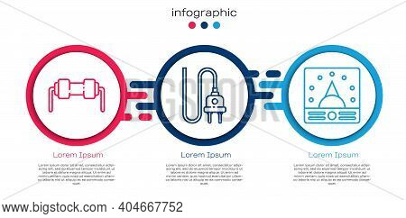 Set Line Resistor Electricity, Electric Plug And Ampere Meter, Multimeter, Voltmeter. Business Infog