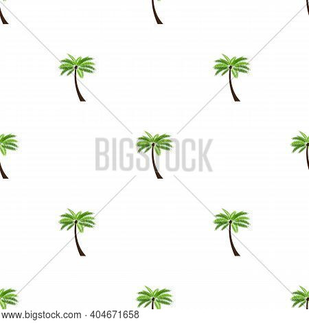 Seamless Pattern Background With Palm Vector Illustration Eps10