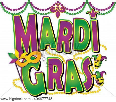 Fat Tuesday Mardi Gras 2021 Decorative Celebration Banner