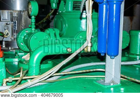 Pump In The Factory, Pump And Valves, Pump And Valves In The Factory