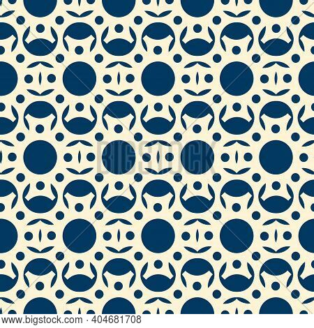 Cut From White Paper Abstract Lacy Pattern  Lacy Seamless Pattern With Circles And Petals On Blue Ba