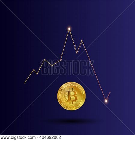 Gold Bitcoin For E-business Network In Financial Trade, And Exchange In Electronic Banking Or Crypto