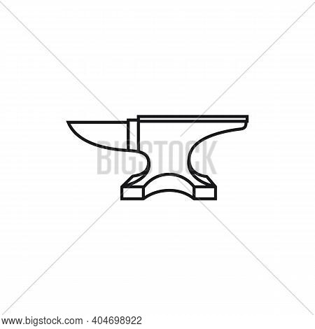 Line Art Blacksmith Iron Anvil Foundry Vintage Retro Logo Design