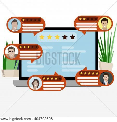 Feedback And Review Ranking, Evaluation Web Service Illustration, Rate And Vote, Write Report Badly