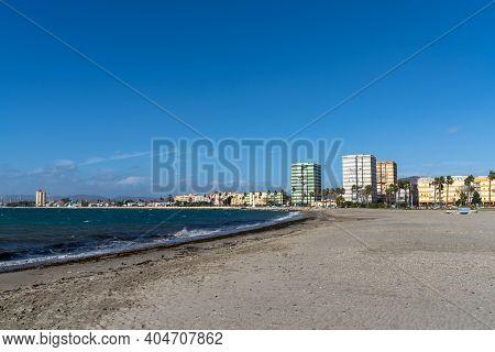 View Of La Linea De La Concepcion And The Playa De Poniente Beach
