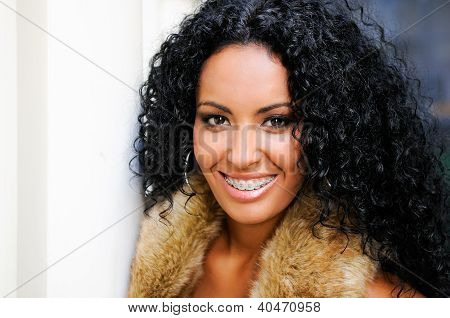 Young Black Woman With Braces